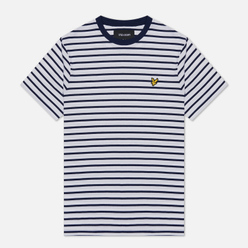 Мужская футболка Lyle & Scott Breton Stripe Navy/White
