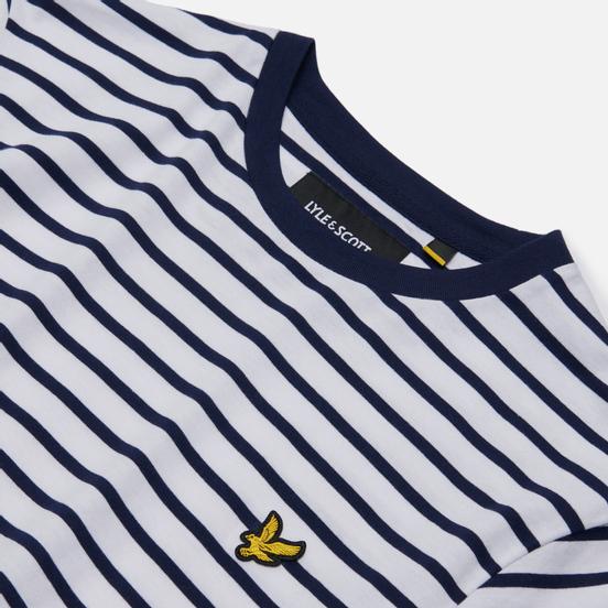 Мужская футболка Lyle & Scott Breton Stripe Navy/White