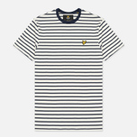 Мужская футболка Lyle & Scott Breton Stripe Off White фото- 0