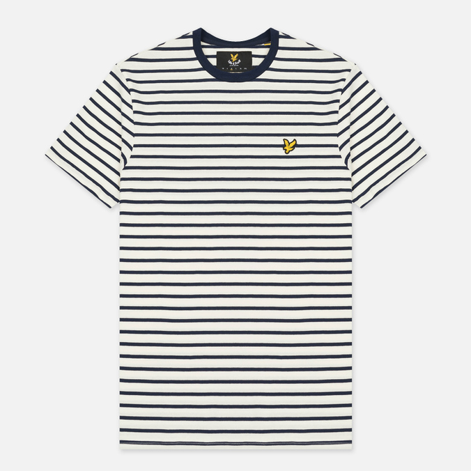 Мужская футболка Lyle & Scott Breton Stripe Off White