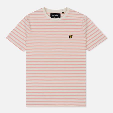 Мужская футболка Lyle & Scott Breton Stripe Snow White/Coral Way