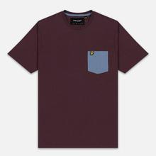 Мужская футболка Lyle & Scott Contrast Pocket Berry/Stone Blue фото- 0