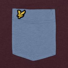 Мужская футболка Lyle & Scott Contrast Pocket Berry/Stone Blue фото- 2