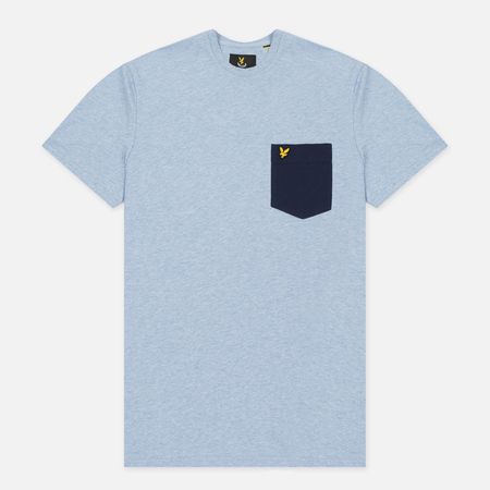 Мужская футболка Lyle & Scott Contrast Pocket Blue Marl