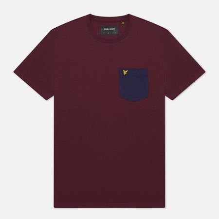 Мужская футболка Lyle & Scott Contrast Pocket Burgundy/Navy