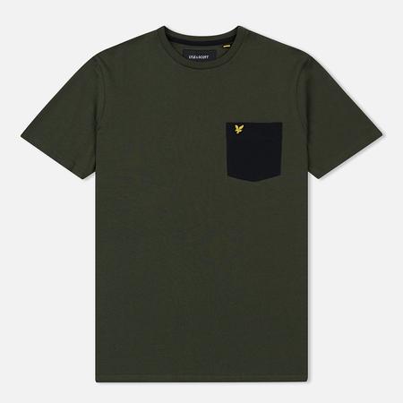 Мужская футболка Lyle & Scott Contrast Pocket Dark Sage/True Black