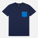 Мужская футболка Lyle & Scott Contrast Pocket Navy фото- 0