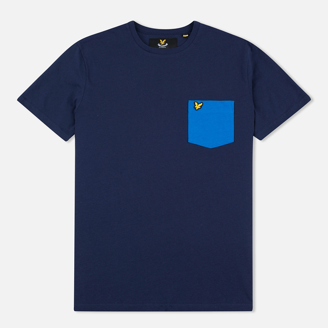 Мужская футболка Lyle & Scott Contrast Pocket Navy