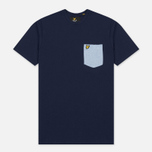 Мужская футболка Lyle & Scott Contrast Pocket Navy/Blue фото- 0