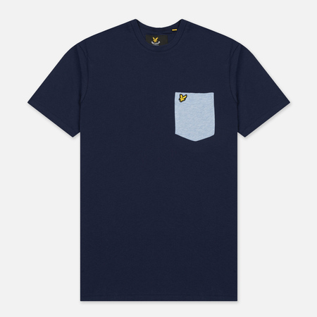 Мужская футболка Lyle & Scott Contrast Pocket Navy/Blue