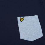 Мужская футболка Lyle & Scott Contrast Pocket Navy/Blue фото- 2