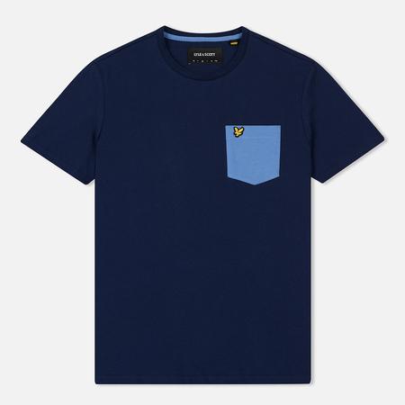 Мужская футболка Lyle & Scott Contrast Pocket Navy/Cornflower Blue