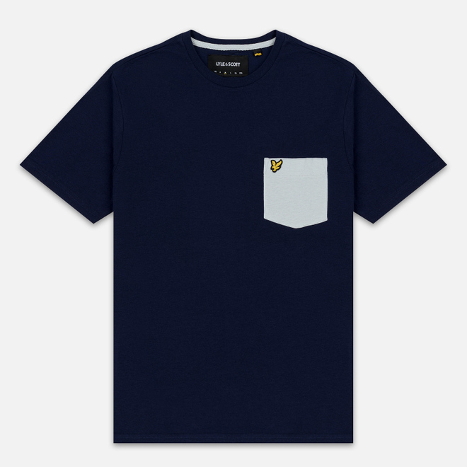 Мужская футболка Lyle & Scott Contrast Pocket Navy/Light Silver