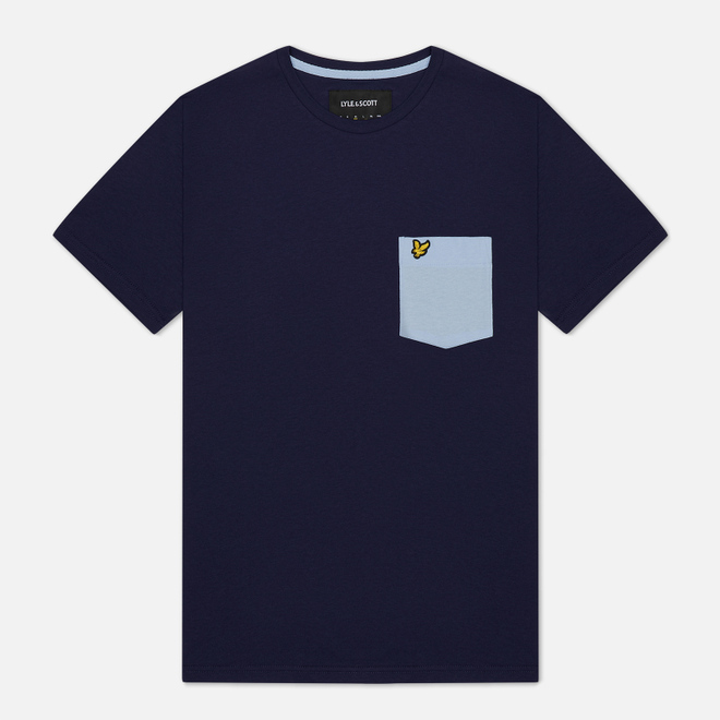 Мужская футболка Lyle & Scott Contrast Pocket Navy/Pool Blue
