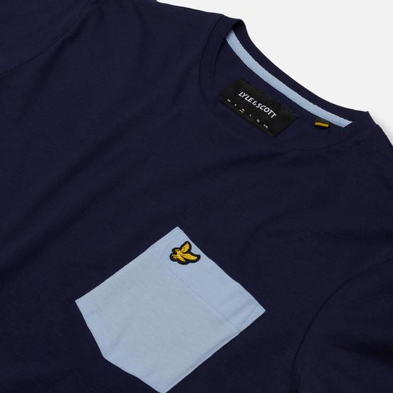 Мужская футболка Lyle & Scott Contrast Pocket Navy/Pool Blue