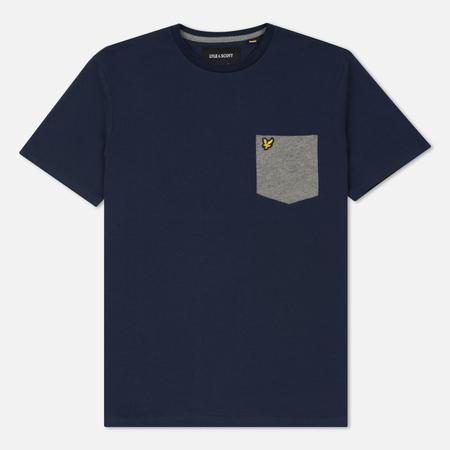 Мужская футболка Lyle & Scott Contrast Pocket Navy/White