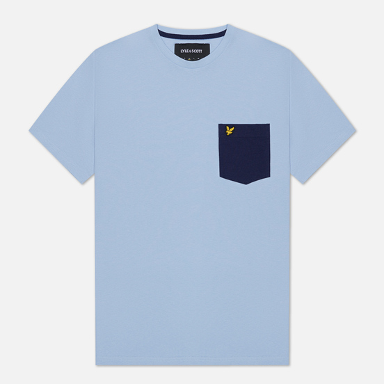 Мужская футболка Lyle & Scott Contrast Pocket Pool Blue/Navy