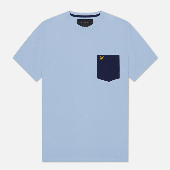 Мужская футболка Lyle & Scott Contrast Pocket Pool Blue/Navy