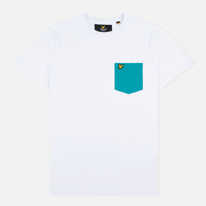 Мужская футболка Lyle & Scott Contrast Pocket White