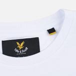 Мужская футболка Lyle & Scott Contrast Pocket White фото- 3