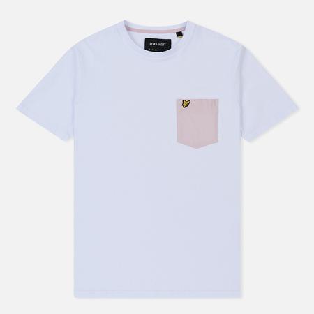 Мужская футболка Lyle & Scott Contrast Pocket White/Dusky Lilac