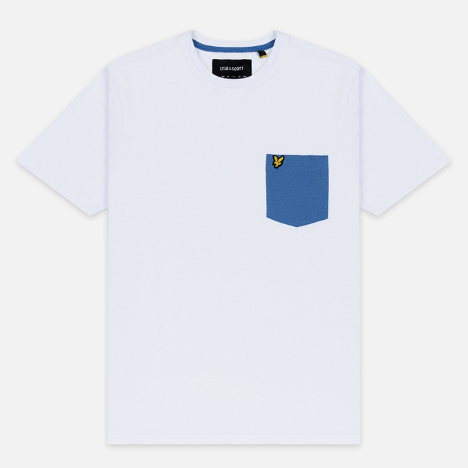 Мужская футболка Lyle & Scott Contrast Pocket White/Lapis Blue