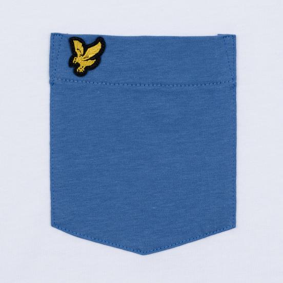 Мужская футболка Lyle & Scott Contrast Pocket White/Lapis Blue
