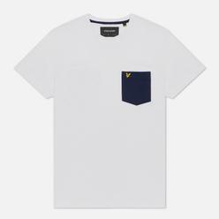 Мужская футболка Lyle & Scott Contrast Pocket White/Navy