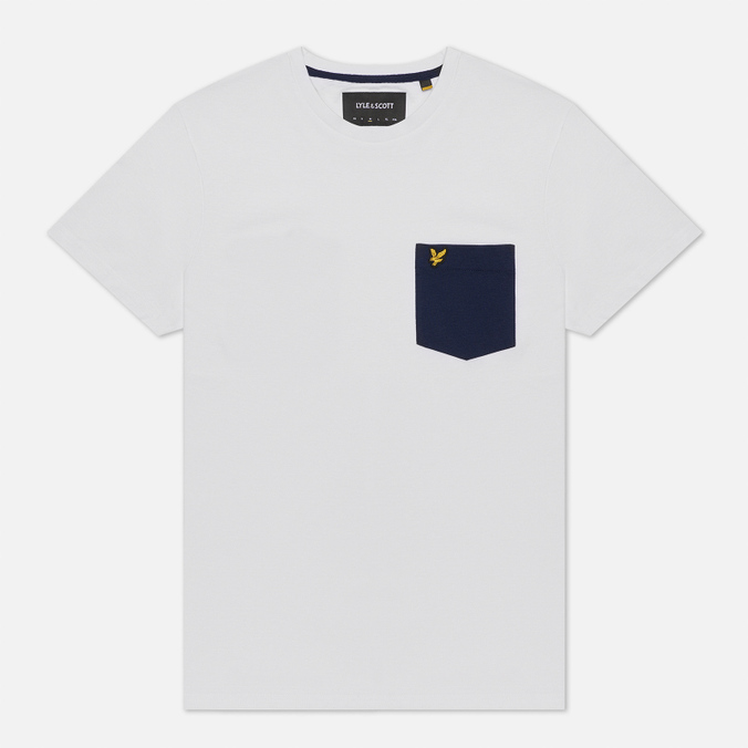 Мужская футболка Lyle & Scott Contrast Pocket White/Navy