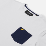 Мужская футболка Lyle & Scott Contrast Pocket White/Navy фото- 1