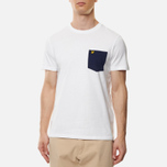 Мужская футболка Lyle & Scott Contrast Pocket White/Navy фото- 2