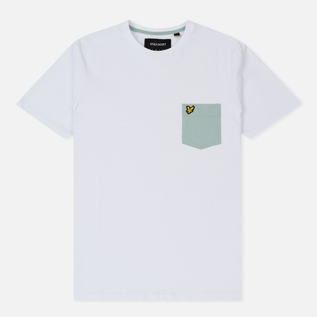 Мужская футболка Lyle & Scott Contrast Pocket White/Turquoise