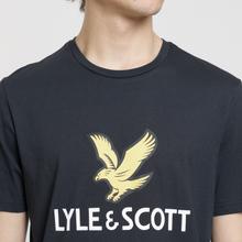 Мужская футболка Lyle & Scott Logo True Black фото- 2
