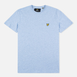 Мужская футболка Lyle & Scott Plain Crew Neck Blue Marl фото- 0