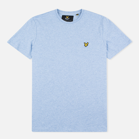 Lyle & Scott Plain Crew Neck Men's T-shirt Blue Marl