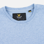 Мужская футболка Lyle & Scott Plain Crew Neck Blue Marl фото- 1