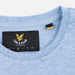 Мужская футболка Lyle & Scott Plain Crew Neck Blue Marl фото- 3