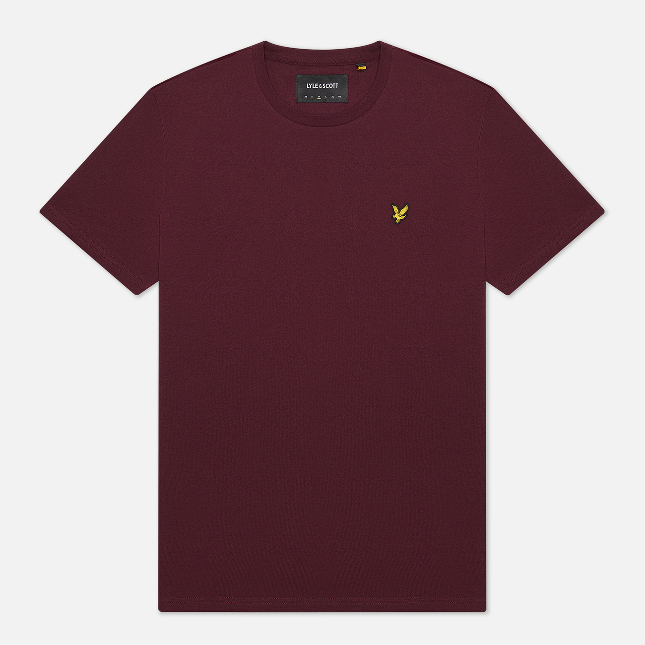 Мужская футболка Lyle & Scott Plain Crew Neck Burgundy
