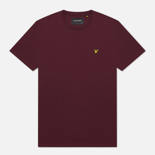 Мужская футболка Lyle & Scott Plain Crew Neck Burgundy фото- 0