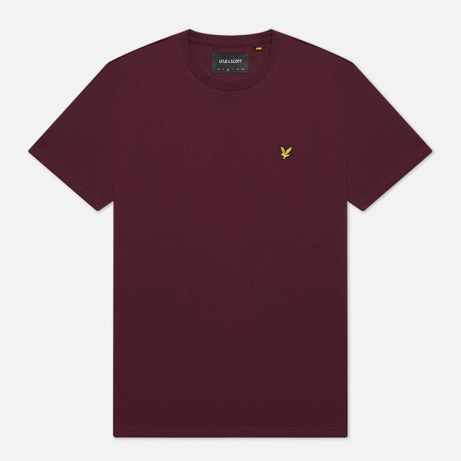 Мужская футболка Lyle & Scott Plain Crew Neck Burgundy