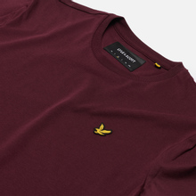 Мужская футболка Lyle & Scott Plain Crew Neck Burgundy фото- 1