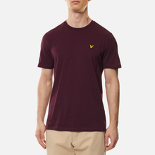 Мужская футболка Lyle & Scott Plain Crew Neck Burgundy фото- 2