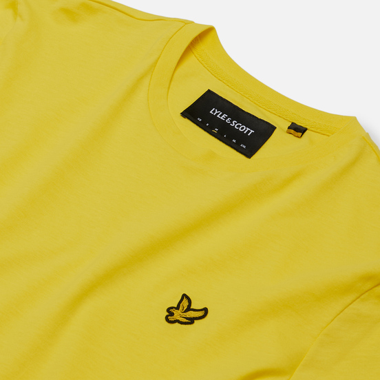 Мужская футболка Lyle & Scott Plain Crew Neck Buttercup Yellow