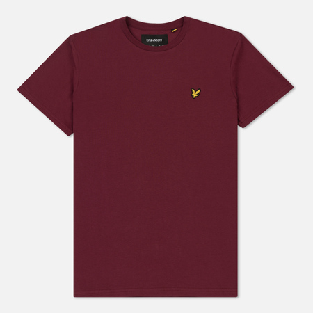 Мужская футболка Lyle & Scott Plain Crew Neck Claret Jug