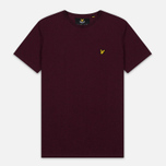 Мужская футболка Lyle & Scott Plain Crew Neck Claret Marl фото- 0
