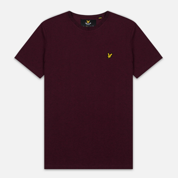Мужская футболка Lyle & Scott Plain Crew Neck Claret Marl