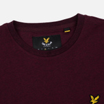 Мужская футболка Lyle & Scott Plain Crew Neck Claret Marl фото- 2