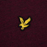 Мужская футболка Lyle & Scott Plain Crew Neck Claret Marl фото- 3