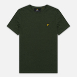 Мужская футболка Lyle & Scott Plain Crew Neck Dark Sage Marl фото- 0