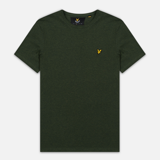 Мужская футболка Lyle & Scott Plain Crew Neck Dark Sage Marl